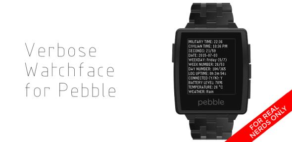 Verbose Watchface Banner
